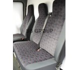 VW LT35 van seat covers brick design in cloth fabric